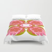 quilt Duvet Covers featuring quilt  by your mom