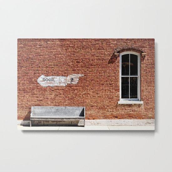 NO.... Window! Metal Print