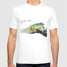 Spring of Pin-Din Mens Fitted Tee White MEDIUM