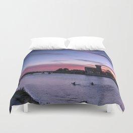 Sunset at Pisa, Italy  Duvet Cover