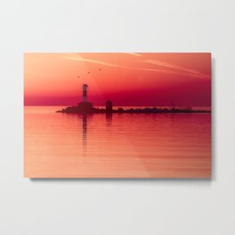 Lighthouse En Rouge Metal Print