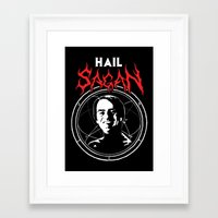 sagan Framed Art Prints featuring HAIL SAGAN by Normal-Sized Deet