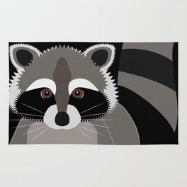 Raccoon in the Night Rug