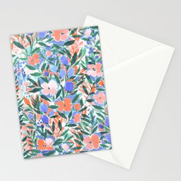 Nonchalant Coral Stationery Cards