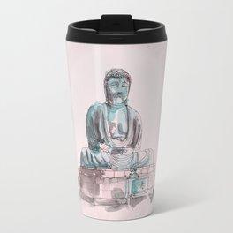 Peace and Harmony watercolor buddha pastel illustration Travel Mug