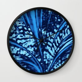 Dotted Power,blue Wall Clock