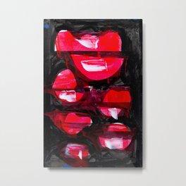 Shade of Red Metal Print