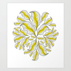 yellow---line Art Print