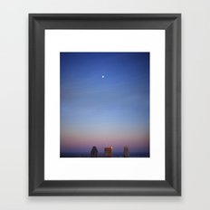 7pm moon Framed Art Print
