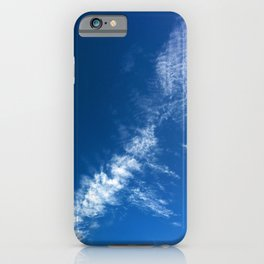 Clouds on Deep Blue iPhone Case