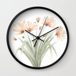 Watercolor Orange Lilies Wall Clock
