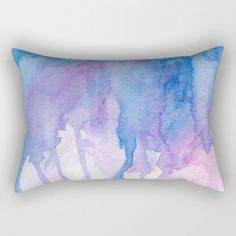 Blue & Purple Watercolor Rectangular Pillow