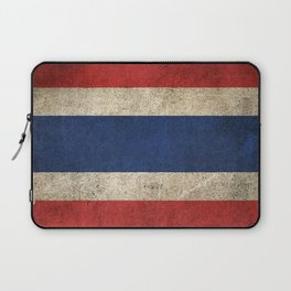 Old and Worn Distressed Vintage Flag of Thailand Laptop Sleeve