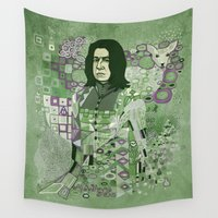 snape Wall Tapestries featuring Portrait of a Potions Master by Karen Hallion Illustrations
