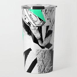 Green Glitch Scrunch Travel Mug