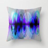 dj Throw Pillows featuring DJ by Sonja Thams