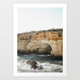 Crashing Cliffs of Portugal | Fine art travel prints | saige ash studio Art Print