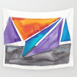 180819 Geometrical Watercolour 1| Colorful Abstract | Modern Watercolor Art Wall Tapestry