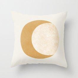 Moon Crescent - Gold Throw Pillow