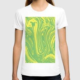 Green Fluid by pahagh T-shirt