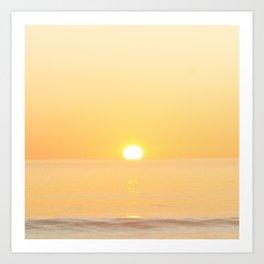 Peachy sunrise seascape Art Print