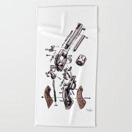 Exploded Gun Beach Towel