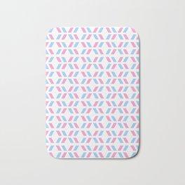 Oblique polka dot blue and pink Bath Mat