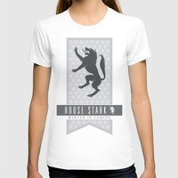 house stark T-shirts featuring House Stark Sigil V2 by P3RF3KT