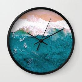 Sea, Pastel Beach Wall Clock
