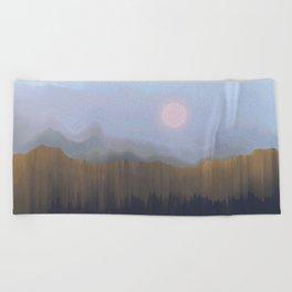 Winter Fog Beach Towel