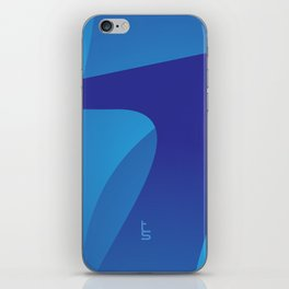 Blue Journey iPhone Skin