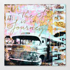 The Joy is in the Journey Canvas Print