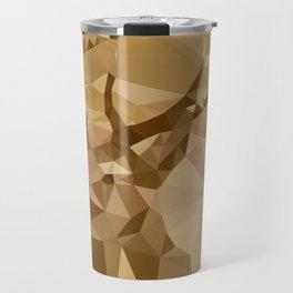 Digital Trophies II - Abstract Art Low Poly Animals Deer Travel Mug