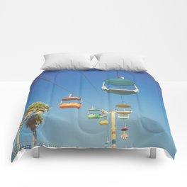 Santa Cruz Boardwalk Gondolas II Comforters