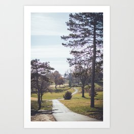 Wanderlost | Adventure Nature Photography of Outdoor Hiking Path and Forest Art Print