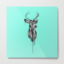 Deer Head III Metal Print