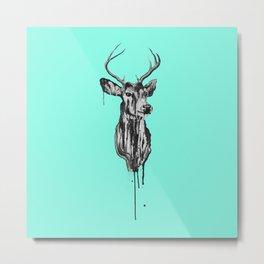 Deer Head III Metal Print