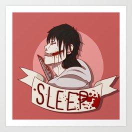 Go To Sleep - Jeff the Killer Art Print