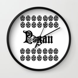 Pagan Pentacles Wall Clock