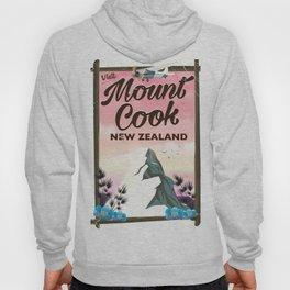 Mount Cook New Zealand travel poster Hoody