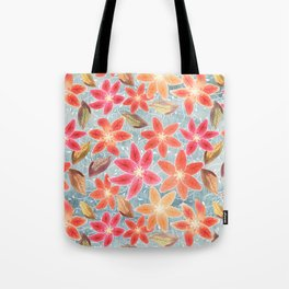 Cute Lilies and Leaves Tote Bag