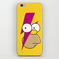homer iPhone & iPod Skins featuring Homer Stardust by lapinette
