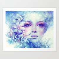 sale Art Prints featuring December by Anna Dittmann