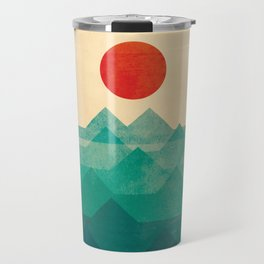 The ocean, the sea, the wave Travel Mug