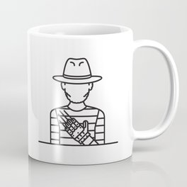 Freddie Krueger (Grey Background) Coffee Mug