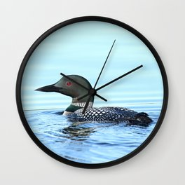 Father Loon Wall Clock