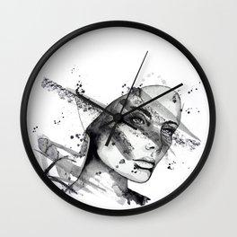 Miriam by carographic Wall Clock