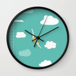 High Diver Wall Clock