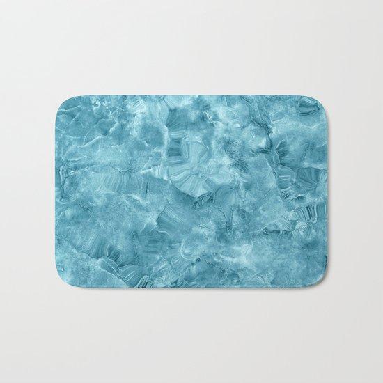 Blue onyx marble Bath Mat