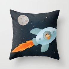 Kid Astronaut Throw Pillow